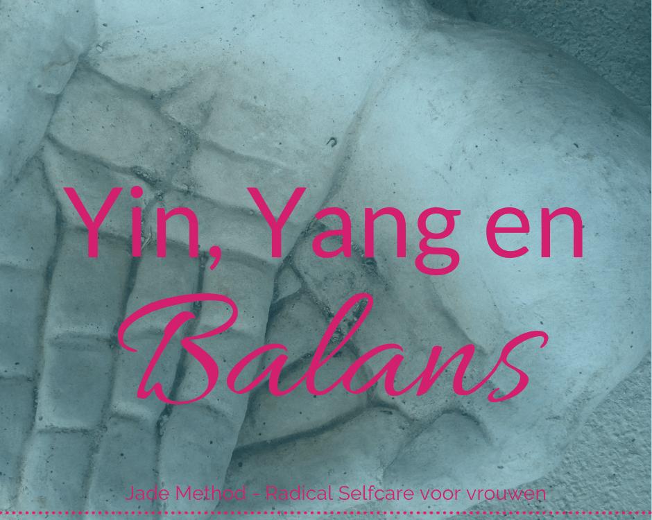 Yin Yang en balans