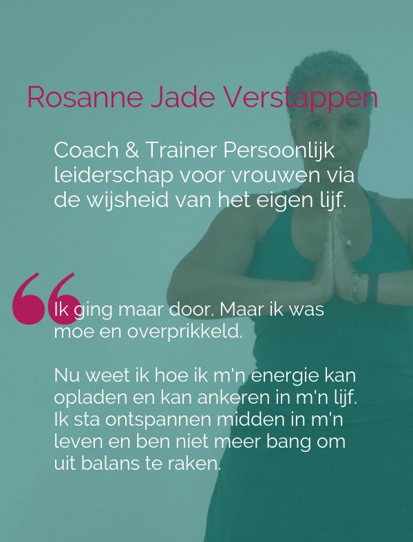 Rosanne Jade Verstappen, persoonlijk leideschaps coach & trainer voor vrouwen